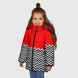 Куртка зимняя для девочки Твин Пикс: узор цвета 3D-черный — фото 2