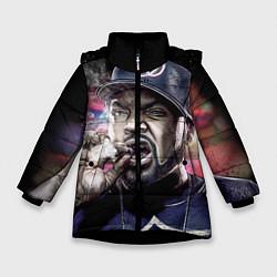 Куртка зимняя для девочки Ice Cube: Big boss цвета 3D-черный — фото 1
