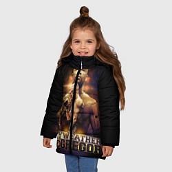 Детская зимняя куртка для девочки с принтом Mayweather vs McGregor, цвет: 3D-черный, артикул: 10132247306065 — фото 2