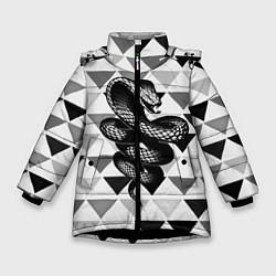 Куртка зимняя для девочки Snake Geometric - фото 1