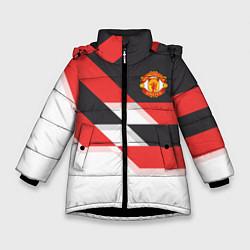 Куртка зимняя для девочки Manchester United: Stipe цвета 3D-черный — фото 1