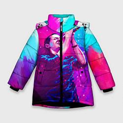 Куртка зимняя для девочки Chester Bennington: Colors цвета 3D-черный — фото 1