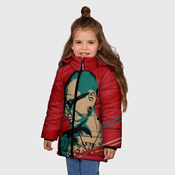 Куртка зимняя для девочки Chester Bennington цвета 3D-черный — фото 2
