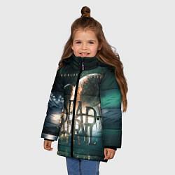 Куртка зимняя для девочки Dead by April: Worlds Collide цвета 3D-черный — фото 2