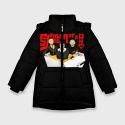Куртка зимняя для девочки SOAD: Wok цвета 3D-черный — фото 1