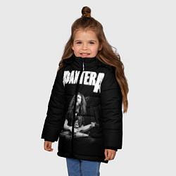 Куртка зимняя для девочки Pantera цвета 3D-черный — фото 2
