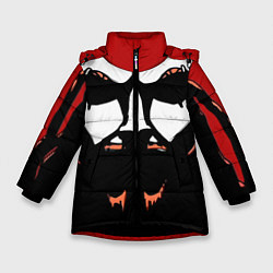 Куртка зимняя для девочки Metalocalypse: Dethklok Face цвета 3D-черный — фото 1