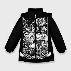 Детская зимняя куртка для девочки с принтом Dethklok: Metalocalypse, цвет: 3D-черный, артикул: 10134388906065 — фото 1