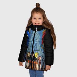 Куртка зимняя для девочки Dethklok: Heroes цвета 3D-черный — фото 2