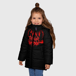 Детская зимняя куртка для девочки с принтом Dethklok, цвет: 3D-черный, артикул: 10134391306065 — фото 2