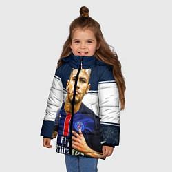 Куртка зимняя для девочки Neymar: Fly Emirates цвета 3D-черный — фото 2