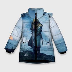 Куртка зимняя для девочки Battlefield Warrior цвета 3D-черный — фото 1