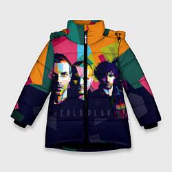 Куртка зимняя для девочки Coldplay цвета 3D-черный — фото 1