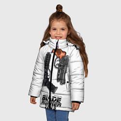 Куртка зимняя для девочки Blade Runner 2049: Weapon цвета 3D-черный — фото 2