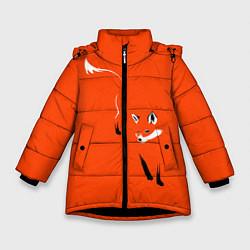 Куртка зимняя для девочки Лисица цвета 3D-черный — фото 1