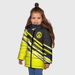 Куртка зимняя для девочки Borussia FC: Sport Line 2018 цвета 3D-черный — фото 2