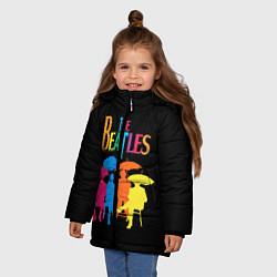 Куртка зимняя для девочки The Beatles: Colour Rain цвета 3D-черный — фото 2