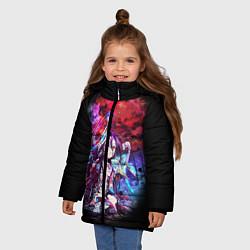 Куртка зимняя для девочки No Game No Life Zero цвета 3D-черный — фото 2