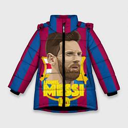 Куртка зимняя для девочки FCB Lionel Messi цвета 3D-черный — фото 1