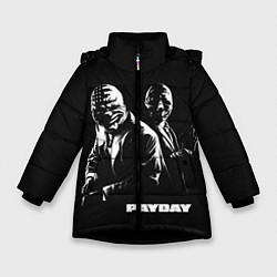 Куртка зимняя для девочки Payday цвета 3D-черный — фото 1