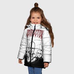 Куртка зимняя для девочки Кровосток цвета 3D-черный — фото 2