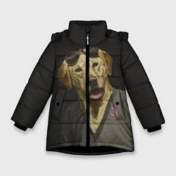 Куртка зимняя для девочки Mr Peanutbutter цвета 3D-черный — фото 1