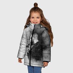 Куртка зимняя для девочки Jah Khalib: Black mist цвета 3D-черный — фото 2