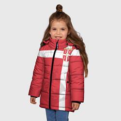 Куртка зимняя для девочки Сборная Сербии цвета 3D-черный — фото 2