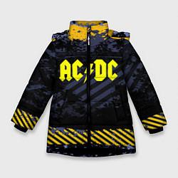 Куртка зимняя для девочки AC/DC: Danger Style цвета 3D-черный — фото 1