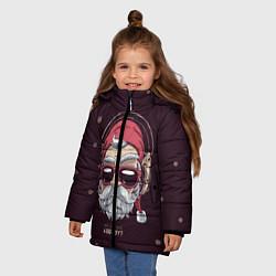 Куртка зимняя для девочки Who was a bad boy? цвета 3D-черный — фото 2