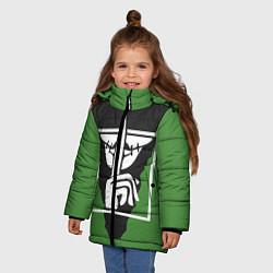 Куртка зимняя для девочки Rainbow Six Siege: Caveira цвета 3D-черный — фото 2