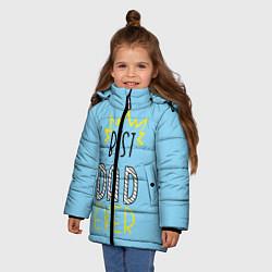 Куртка зимняя для девочки Best Dad Ever цвета 3D-черный — фото 2