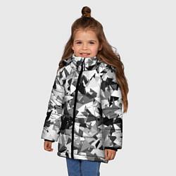 Куртка зимняя для девочки Городской серый камуфляж цвета 3D-черный — фото 2
