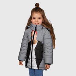 Детская зимняя куртка для девочки с принтом T-Fest, цвет: 3D-черный, артикул: 10144503706065 — фото 2