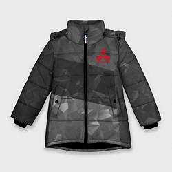Куртка зимняя для девочки MITSUBISHI SPORT цвета 3D-черный — фото 1