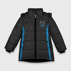 Детская зимняя куртка для девочки с принтом MAZDA SPORT, цвет: 3D-черный, артикул: 10146442906065 — фото 1
