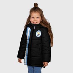 Куртка зимняя для девочки Манчестер Сити цвета 3D-черный — фото 2