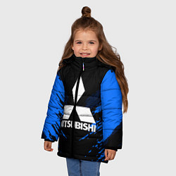 Куртка зимняя для девочки Mitsubishi: Blue Anger цвета 3D-черный — фото 2