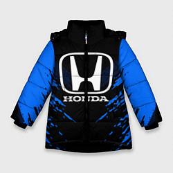 Куртка зимняя для девочки Honda: Blue Anger цвета 3D-черный — фото 1