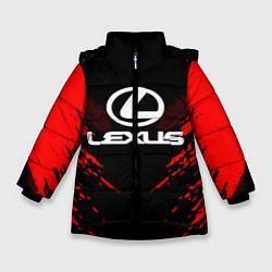 Куртка зимняя для девочки Lexus: Red Anger цвета 3D-черный — фото 1