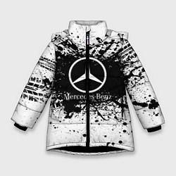 Куртка зимняя для девочки Mercedes-Benz: Black Spray цвета 3D-черный — фото 1