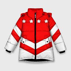 Куртка зимняя для девочки Звезды Спартака цвета 3D-черный — фото 1