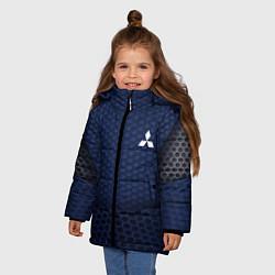 Куртка зимняя для девочки Mitsubishi: Sport Motors цвета 3D-черный — фото 2
