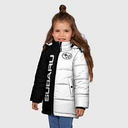 Куртка зимняя для девочки Subaru B&W цвета 3D-черный — фото 2