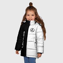 Куртка зимняя для девочки Lexus: Black & White цвета 3D-черный — фото 2