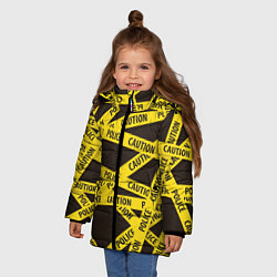 Куртка зимняя для девочки Police Caution цвета 3D-черный — фото 2
