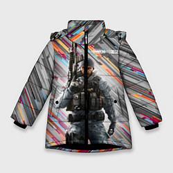 Куртка зимняя для девочки Rainbow Six Siege цвета 3D-черный — фото 1