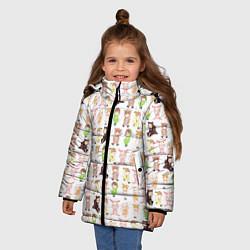 Детская зимняя куртка для девочки с принтом MONSTA X 10, цвет: 3D-черный, артикул: 10150080706065 — фото 2