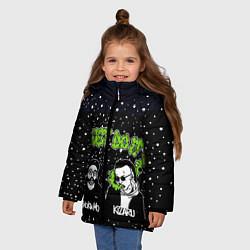 Куртка зимняя для девочки Smoky Mo & Kizaru цвета 3D-черный — фото 2