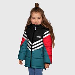Куртка зимняя для девочки Firm 90s: Arrows Style цвета 3D-черный — фото 2